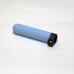 Oar Grip, Ice Blue Ribbed Rubber, Adjustable