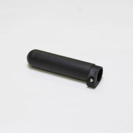 Oar Grip, Smooth Black Rubber, Adjustable
