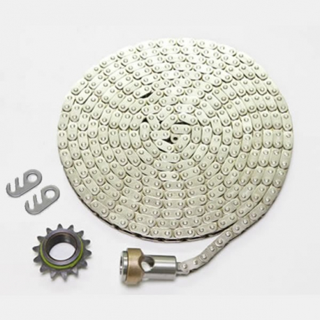 Nickel Chain with Sprocket and Connector Swivel—Model D and E